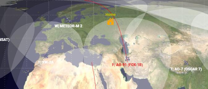 Удобное отслеживание радиолюбительских спутников