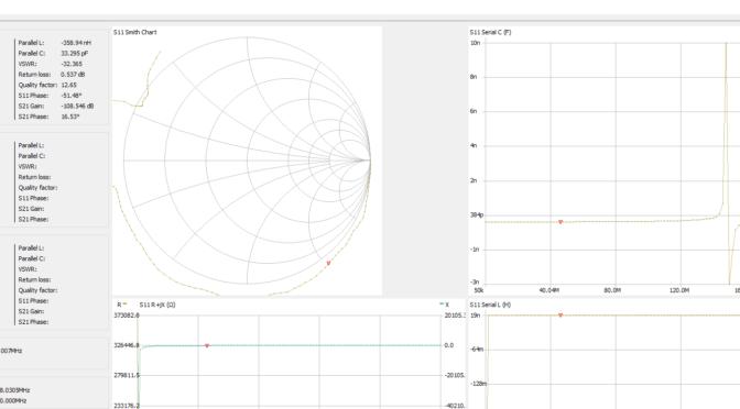 Измеряем параметры ёмкости и индуктивности с помощью NanoVNA